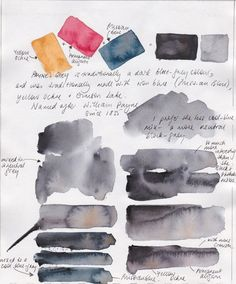 Jane Blundell: Custom watercolour mixes - a question of Greys