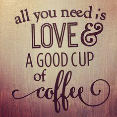 Coffee and snuggled