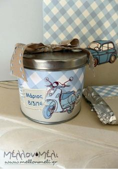 Vespa Special, Coffee Cans, Jar, Baby Shower, Home Decor, Holidays Events, Babyshower, Decoration Home, Room Decor