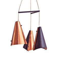 1960s Three Danish Hanging Lamps, £275, now featured on Fab.