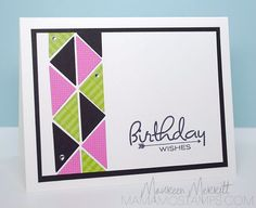 Mama Mo Stamps: CASology - Neon Birthday Wishes