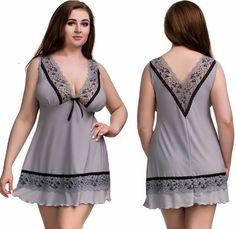 be120a77e2b Nine X Plus Size Nightwear Sexy Chemise L-10XL 12-32 Lingerie Babydoll Dress