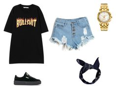 """22"" by donovoncornelius ❤ liked on Polyvore featuring Versace, Puma and Boohoo"