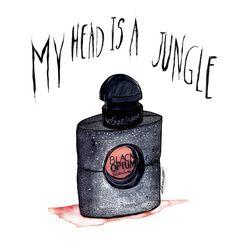 My head is a jungle #aleksandrav  #ysl #yvessaintlaurent #blackopium #opium #fragance #parfum #jungle