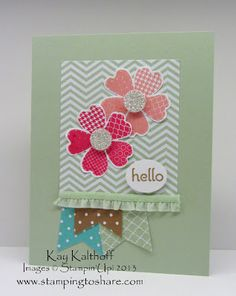 Stamping to Share: 6/25 Flower Shop Hello