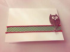 Owl. Homemade Card- Blank Inside