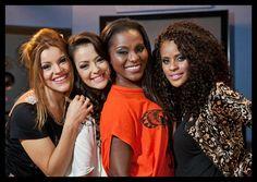 Brazilian girlband Rouge in 2013. (l to r: Fantine Thó, Lissah Martins, Karin Hils & Aline Wirley)