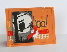 Boo Halloween Card by Sarah Webb/Guest Designer for the Card Kitchen Kit Club; Card created using Oct. 2013 Card Kitchen Kit