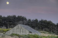 Paul Kozal, photography, Sea Ranch Barn & Moon