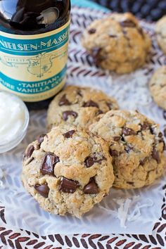 You'd never guess that these thick, soft and chewy coconut oil oatmeal chocolate chip cookies are butter-free! That's because they're packed full of amazing tropical flavor!