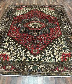 Design Persian Heriz Size 7'5X10 Color Brown, Red - Multi-Colored Knot technique 100% Hand Knotted rug Foundation Wool Pile 100% Fine Wool Retail price $7,000 -