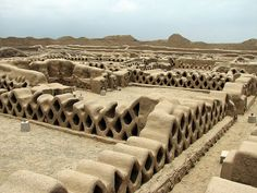 Chan Chan, Trujillo, Peru  Chan Chan is the largest Pre-Columbian City in South America.