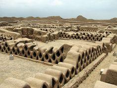 Chan Chan, Trujillo, Peru  Chan Chan is the largest Pre-Columbian City in South America.