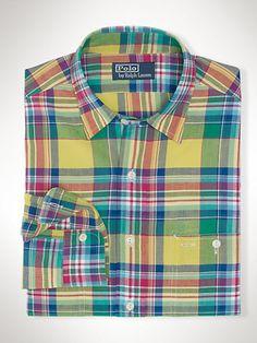 Ralph Lauren madras shirt // $31