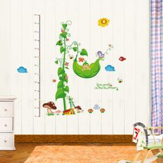 Garden Peas Baby Height Measure DIY Wall Stickers Home Decor Removable For Rooms Kids Growth Chart Wall Decal Mural Wallpaper Kids Room Wall Stickers, Cheap Wall Stickers, Wall Stickers Home Decor, Wall Stickers Murals, Wall Decals, Living Room Ornaments, Baby Ornaments, Butterfly Baby Room, Height Ruler