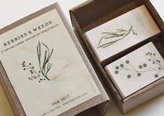 Berries & Weeds Stamp Set by Ink + Wit - contemporary - accessories and decor - Etsy