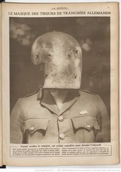 WW1; Mask of a German sniper. -Le Miroir : publication hebdomadaire…