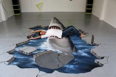 street art is as revolutionary an expression of design and art as graffiti. street art paintings are all about impact, and that's the success mantra for several… 3d Floor Art, Floor Murals, Amazing Street Art, 3d Street Art, Amazing Art, Epoxy 3d, 3d Sidewalk Art, 3d Street Painting, 3d Painting