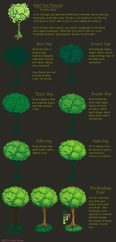 Pixel Tree Tutorial by JuicyZone