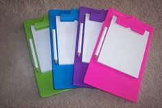 PERSONALIZATION READY MINI CLIPBOARD PARTY FAVORS