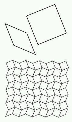 Free English Paper Piecing 6 Point Diamond Layout Pattern