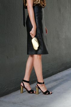 Front Roe by Louise Roe   How to Look Hot for a Cocktail Party   Tips for Styling a Staple Leather Skirt