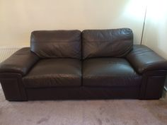 Some before and after pictures of this Leather Sofa Repair and Refurbishment In Crookston, Glasgow. It was a full refurb which included packing some cushions, deep clean, some scuffs marks and peeling leather fixed and new leather top coat to…