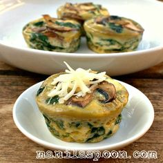 Spinach, Sundried Tomatoes And Feta Frittata Bites Recipe — Dishmaps