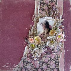 Mary's Crafty Moments: ''Beauty'' - DT Layout for Maja Design March Inspi...