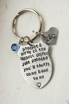 Police officer personalized keychain by lovemorethananything