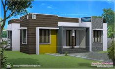 indian home design apartment using entrance door fan and paint house or trim first for modern house design with wood Single Floor House Design, Home Design Floor Plans, House Front Design, Small House Design, Modern House Design, House Floor, Indian Home Design, Kerala House Design, Modern Farmhouse Plans
