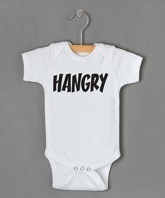 Look at this #zulilyfind! White & Black 'Hangry' Bodysuit - Infant #zulilyfinds