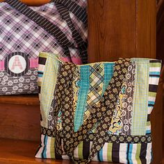 Ansonia Bags - free book on quilted projects for inspiration. Link on pages to website where you can download the patterns.