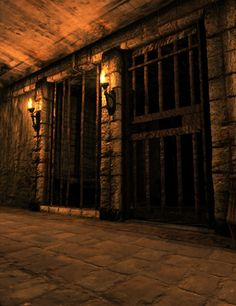 The dark queen's prison cell underground the castle Fantasy Places, Fantasy World, Prison Cell, Story Inspiration, Abandoned Places, Architecture, Medieval Castle, Dungeons And Dragons, Environment