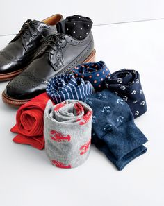 J.Crew men's socks and Ludlow wing tips.