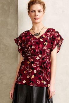 Rose Garden Kimono Blouse - anthropologie.com