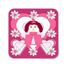 its raining doll parties hawk family sticker - Valentines Day Wrapping Paper