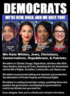 Welcome to the new face of the democrat party! Liberal Hypocrisy, Liberal Logic, Socialism, Communism, Political Memes, Political Views, Political Corruption, Funny Sports Memes, After Birth