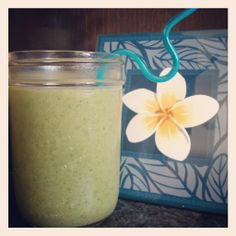 """I bought a juicer recently, but to be honest, I was quite disappointed by all the wasted veggies & fruit pulp it made (especially if you juice kale since what liquid does kale make anyway!).    As a result I started googling """"kale smoothies"""" in hopes to find a way to salvage the wasted kale and after some trial and error I found an amazing reci"""