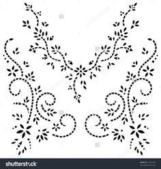 indian design neckline stencil