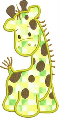 INSTANT DOWNLOAD Giraffe Applique and Fill by DBembroideryDesigns
