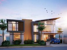 Modern Residences with Elegant Exteriors Visualized!