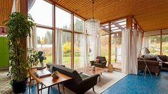 Interiör av hus i Hudiksvall, ritat av Greta Magnusson Grossman. Foto: Bukowskis