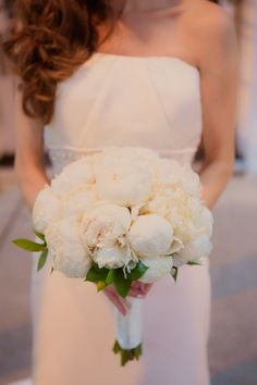 White bouquet by Bunches (a flower shop) .