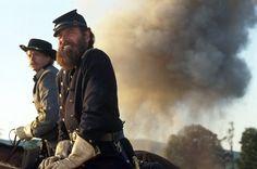 "Hunter McGuire (Sean Pratt) and Thomas J. Jackson (Stephen Lang) in ""Gods and Generals"" Civil War Movies, Civil War Art, American Civil War, American History, Gettysburg Movie, Gods And Generals, Warner Bros Movies, Stephen Lang, Stonewall Jackson"