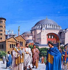 A tale of three cities: Byzantium, Constantinople, Istanbul – Historical articles and illustrations Ancient Egyptian Art, Ancient Rome, Ancient Greece, Ancient History, Ancient Aliens, Byzantine Architecture, Historical Architecture, Roman History, European History