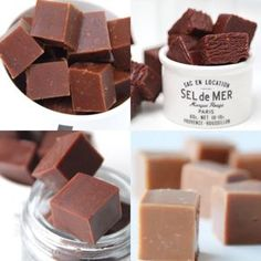 Four recipes for fudge Fudge Recipes, Candy Recipes, Chocolate Recipes, Sweet Recipes, Christmas Snacks, Christmas Candy, Xmas, Scandinavian Food, Homemade Candies