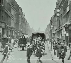 Hatton Garden looking north from Holborn Circus London England in 1895