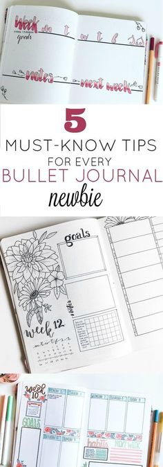 5 Must-Know Tips for Every Bullet Journal Newbie