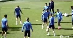 Watch Real Madrid stars engage in painful training ground... #ChampionsLeague: Watch Real Madrid stars engage in painful… #ChampionsLeague